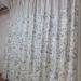 パステルカラーのストライプ生地と花柄の生地を切り替えてお作りしたフェミニンで上品なカーテンのご紹介です。